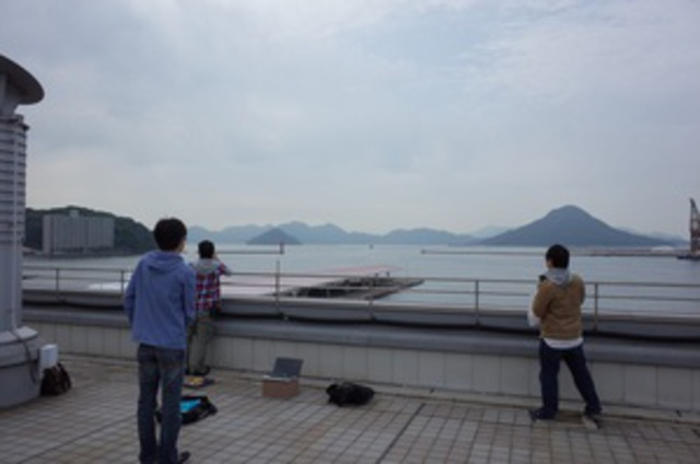 Radio experiment in Unjina Port of Hiroshima